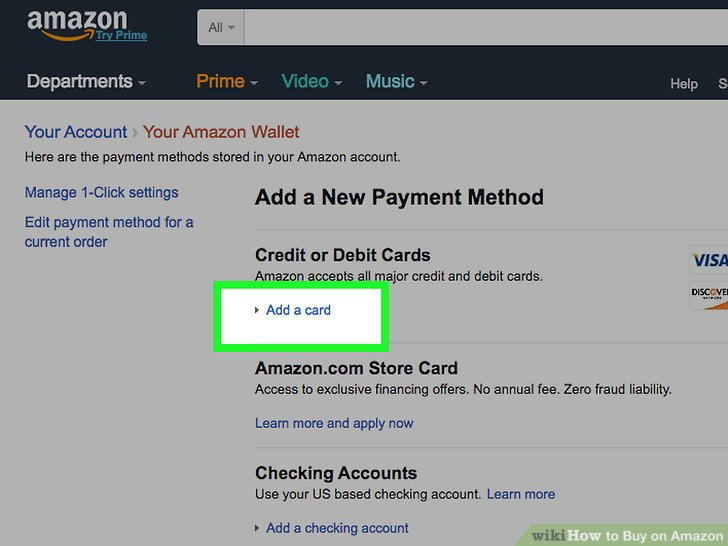 make a payment amazon card