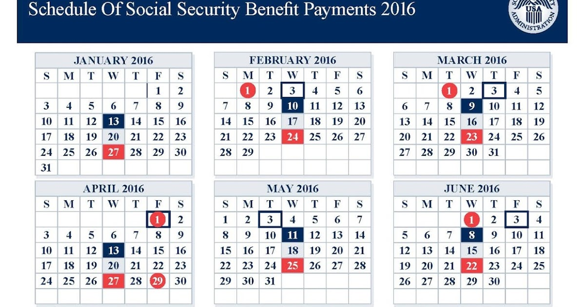 2016 social security payment schedule photo - 1