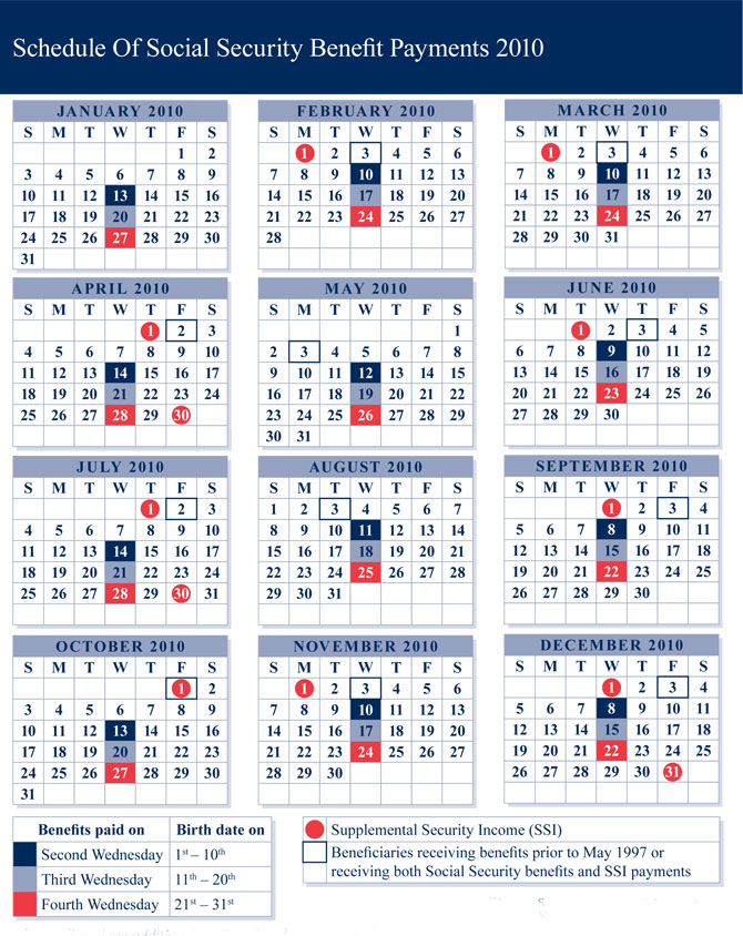 2017 social security payment schedule photo - 1