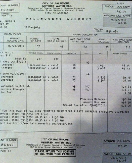 baltimore water bill payment photo - 1