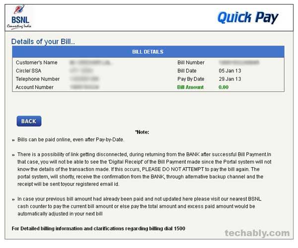 bsnl bill payment photo - 1