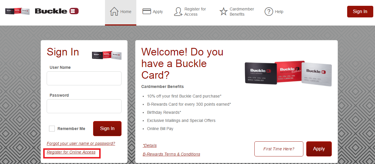 buckle credit card payment photo - 1