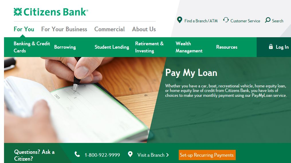citizens bank loan payment photo - 1