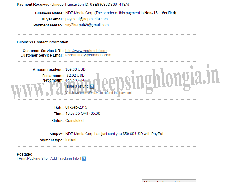 cpl one time payment photo - 1