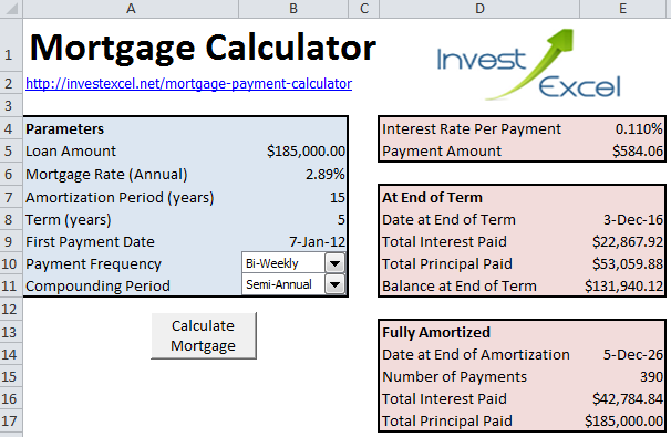 excel formula for mortgage payment photo - 1