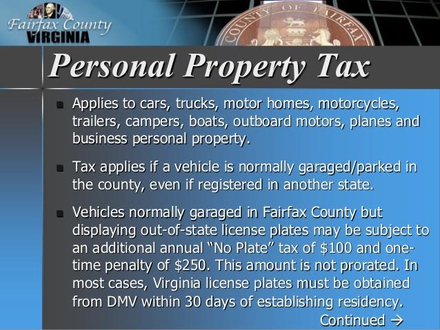 fairfax county car tax payment photo - 1