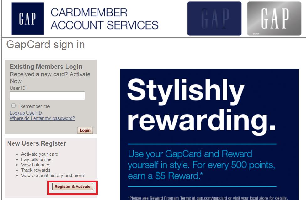 gap credit card payment photo - 1