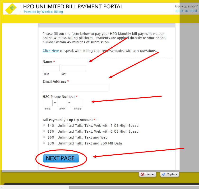 h20 bill payment photo - 1