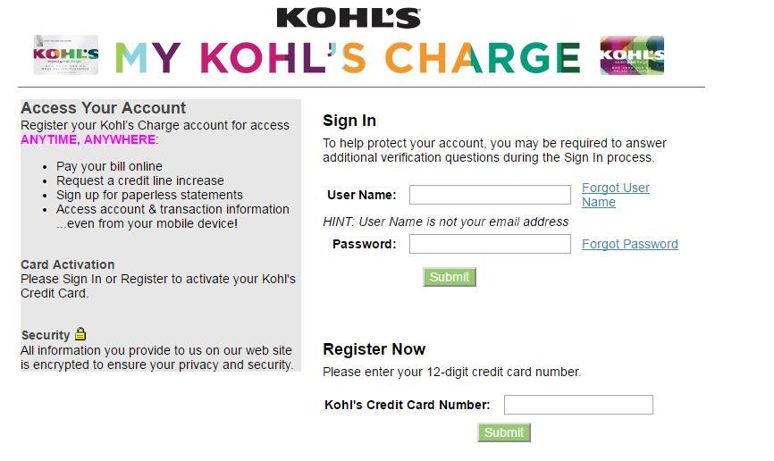 kohls credit card payment address photo - 1