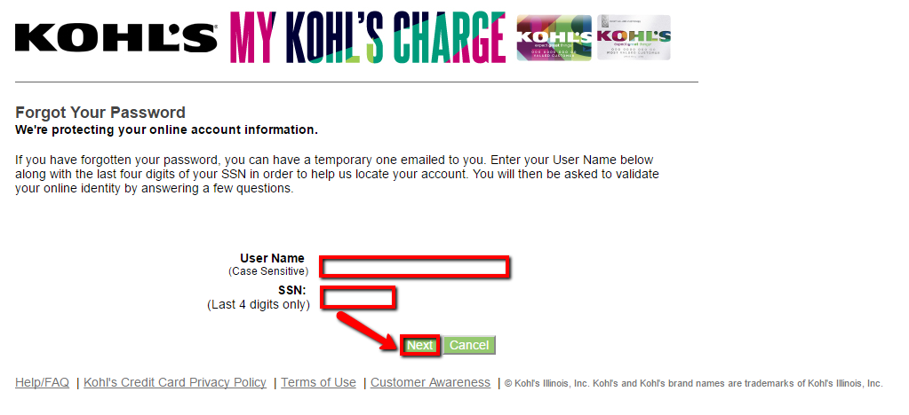 kohls credit card payment number photo - 1
