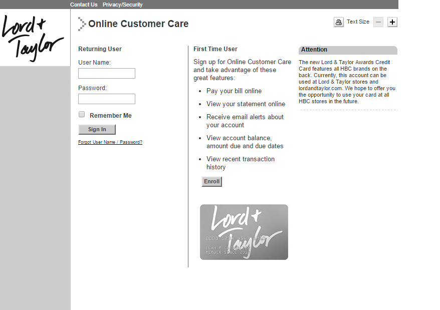 lord and taylor credit card payment photo - 1