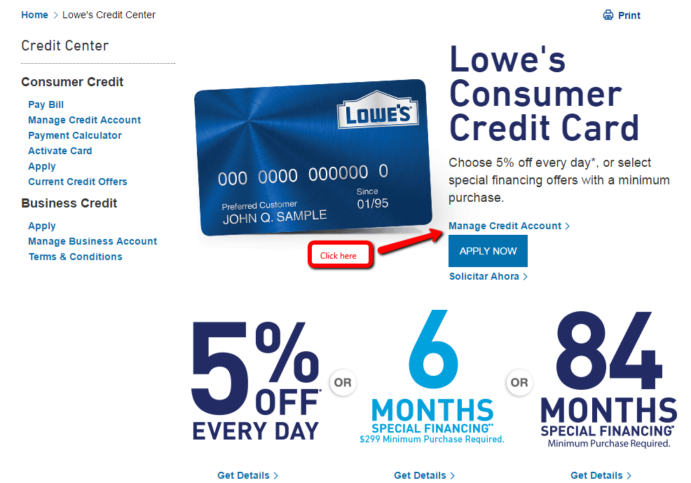 lowes consumer credit card payment photo - 1