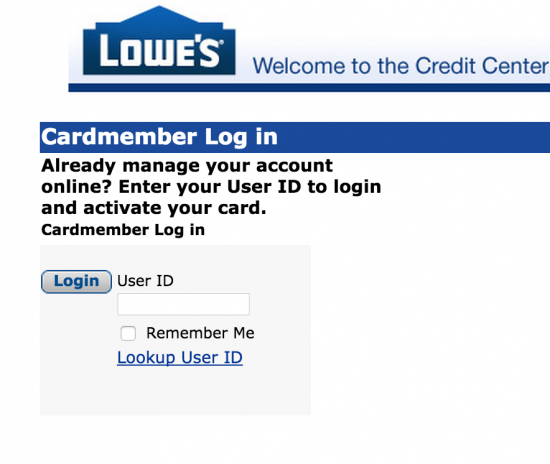 lowes credit card make payment photo - 1