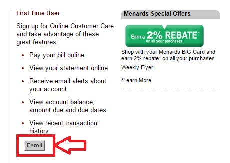 menards big card payment photo - 1