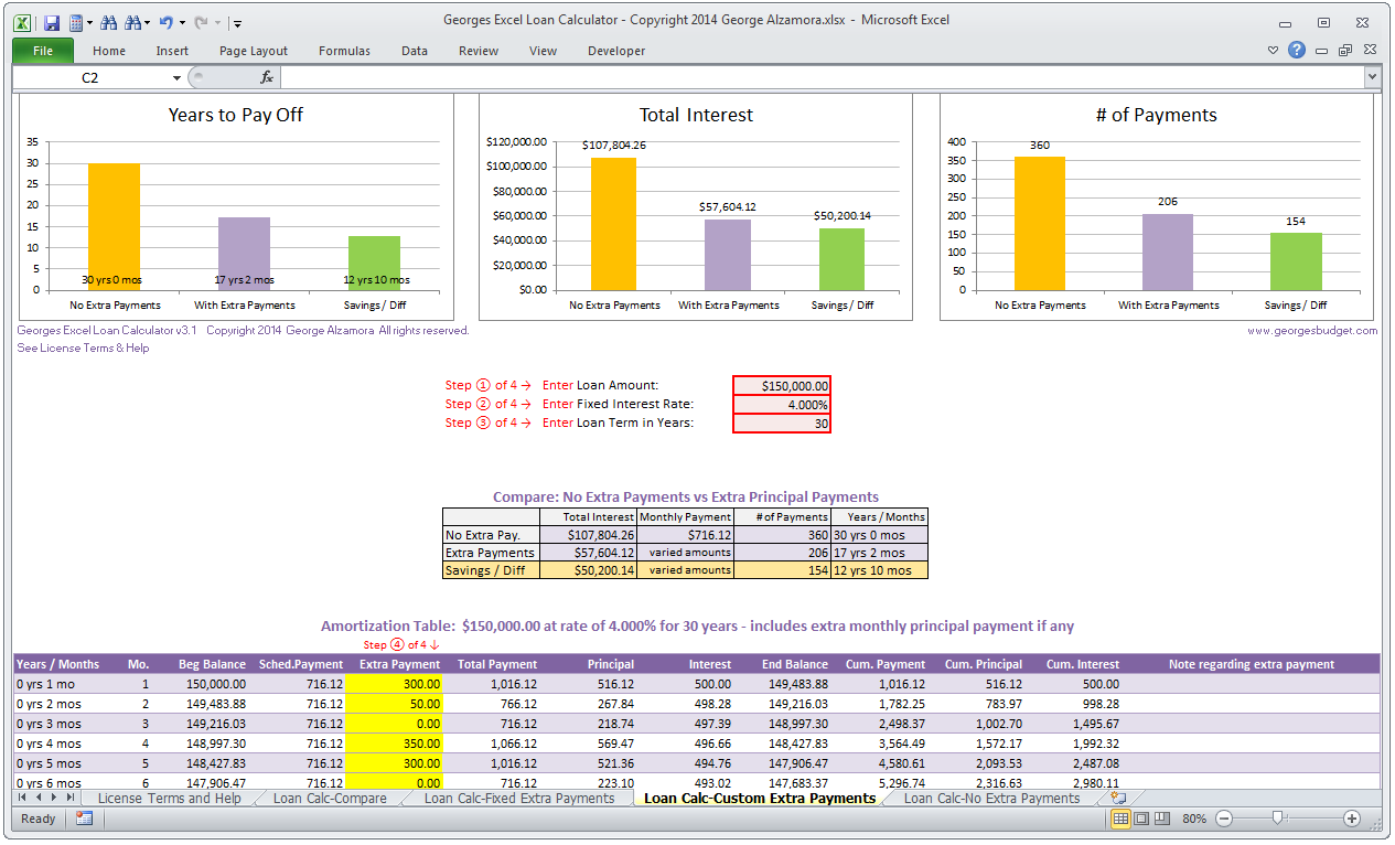 mortgage additional payment calculator photo - 1