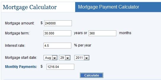 mortgage payment on 300k photo - 1