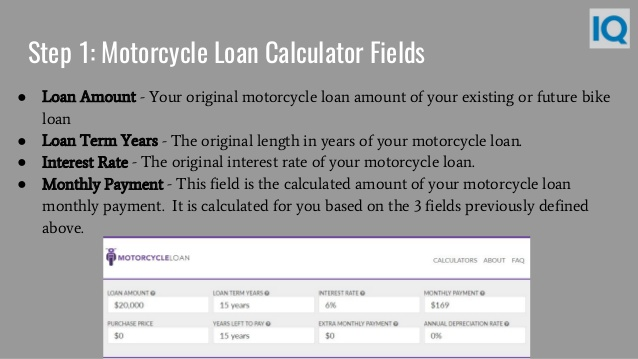 motorcycle loan payment calculator photo - 1