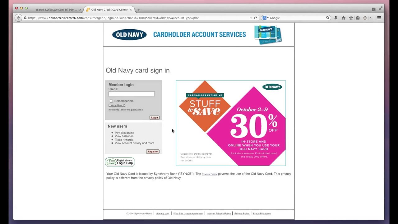 oldnavy card payment photo - 1