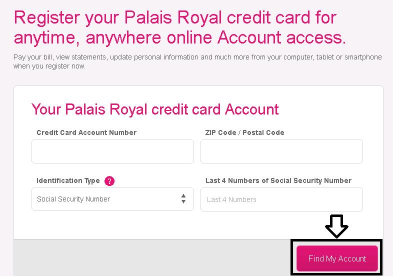 palais royal credit card payment photo - 1