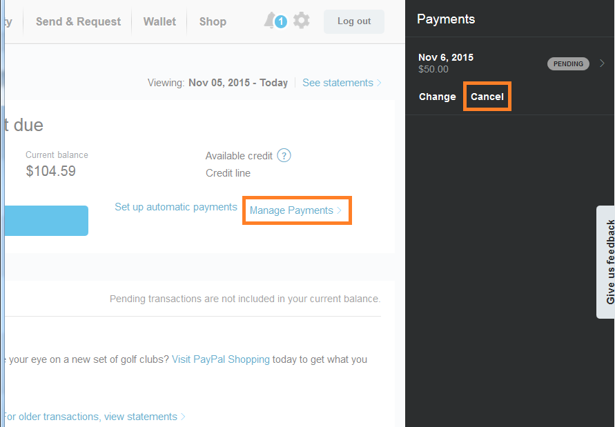 paypal cancel pending payment photo - 1