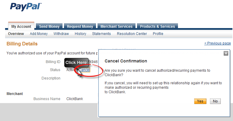 paypal cancel recurring payment photo - 1