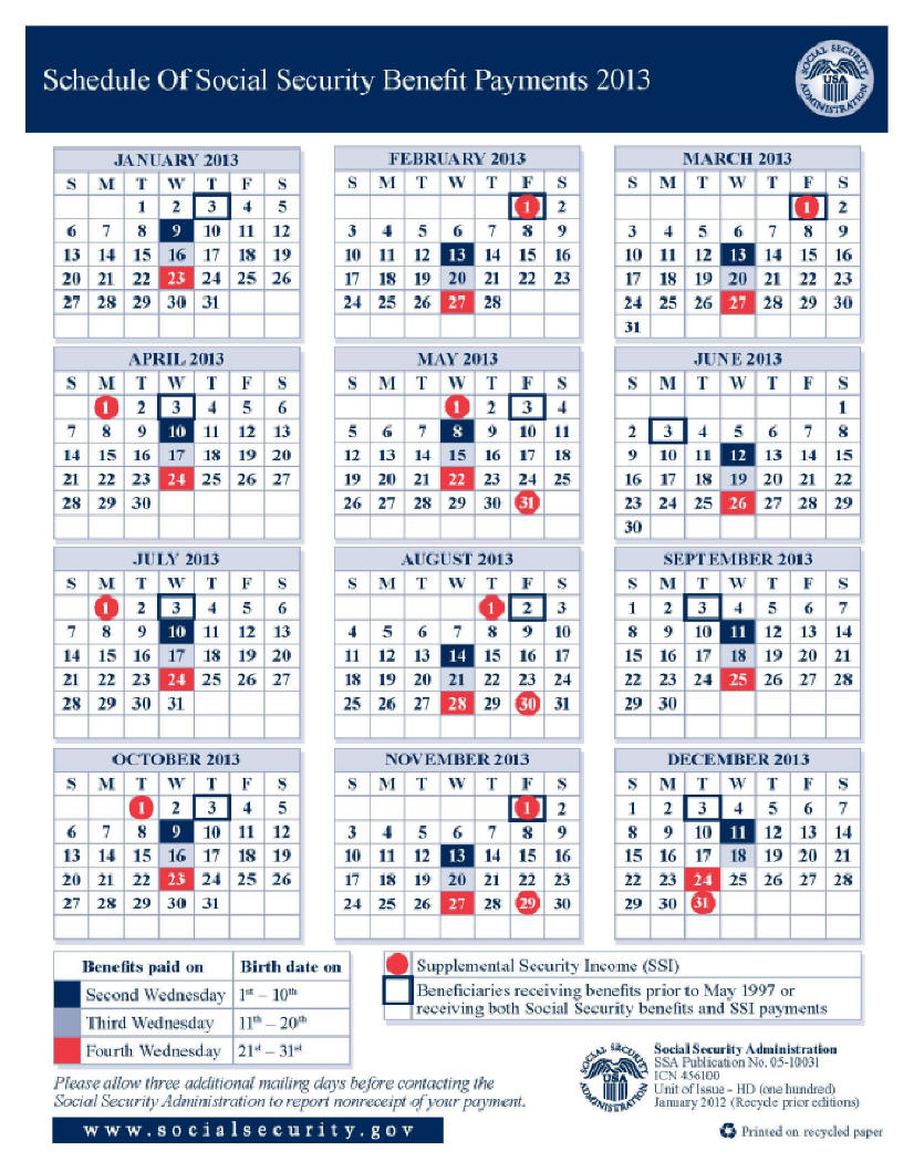 social security disability payment schedule 2016 photo - 1