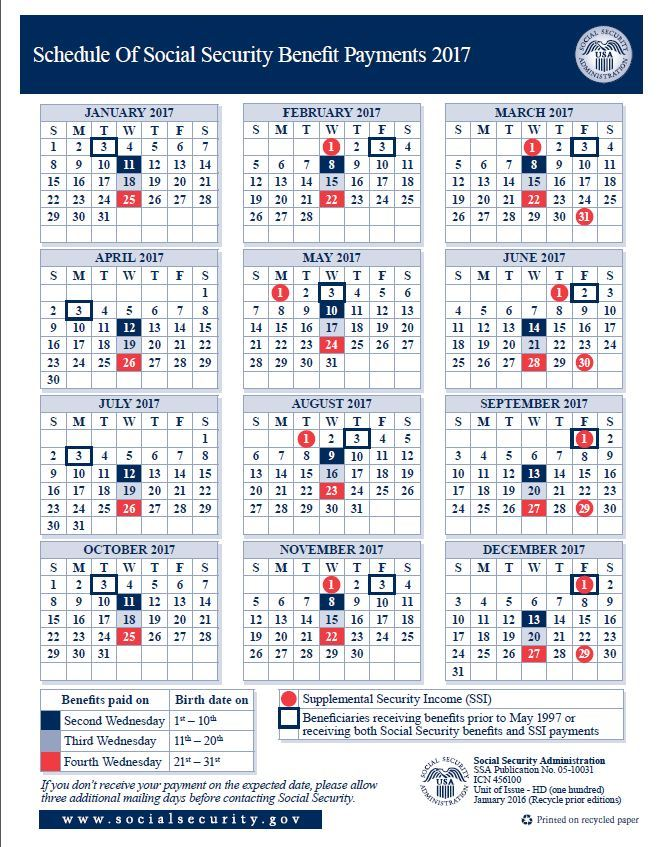social security payment dates 2018 photo - 1