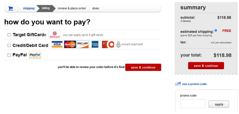 target red card payment online photo - 1