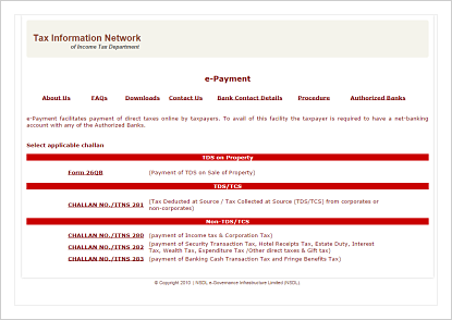 tds online payment photo - 1