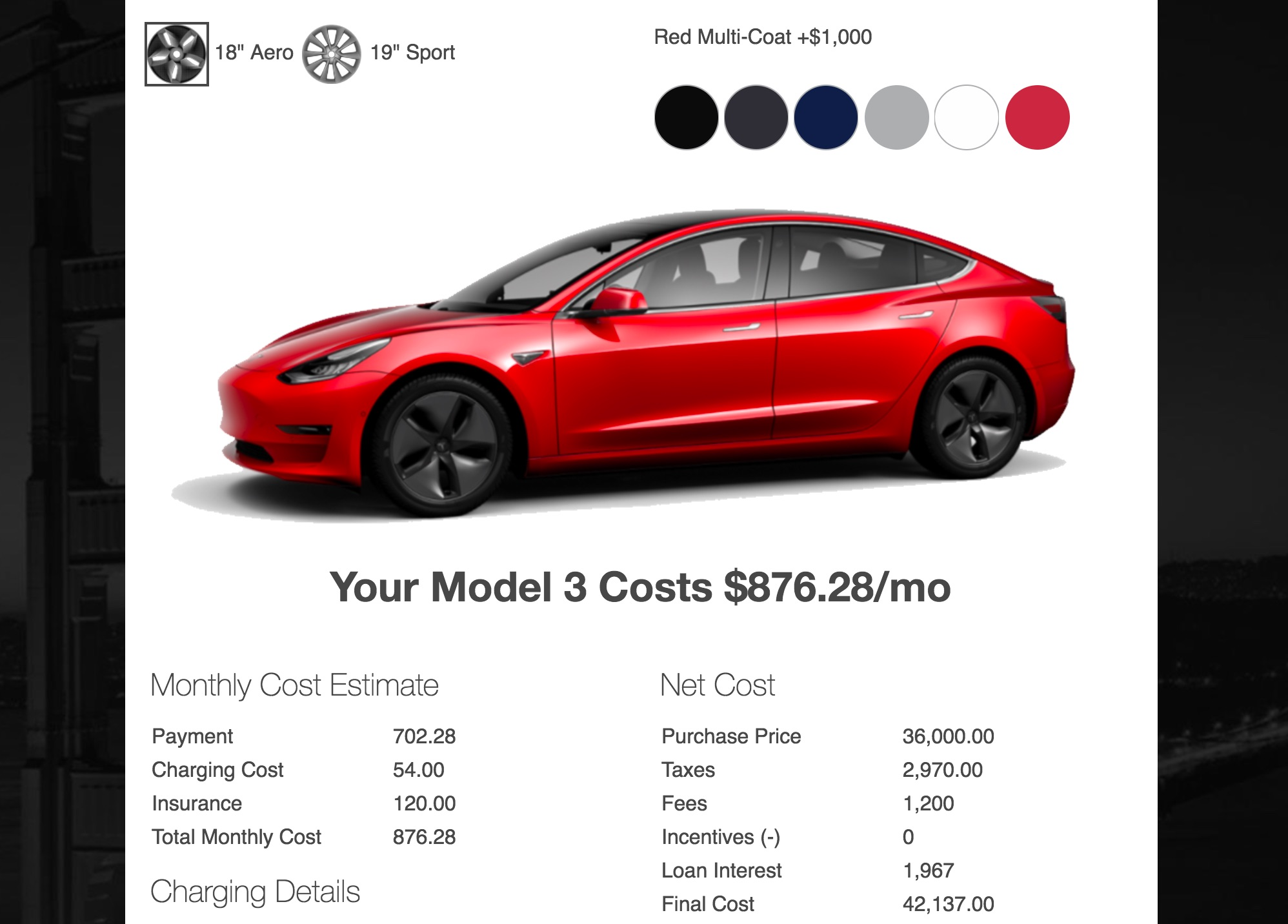 tesla model 3 monthly payment photo - 1