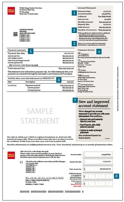Wells fargo dealer services bill payment - Payment