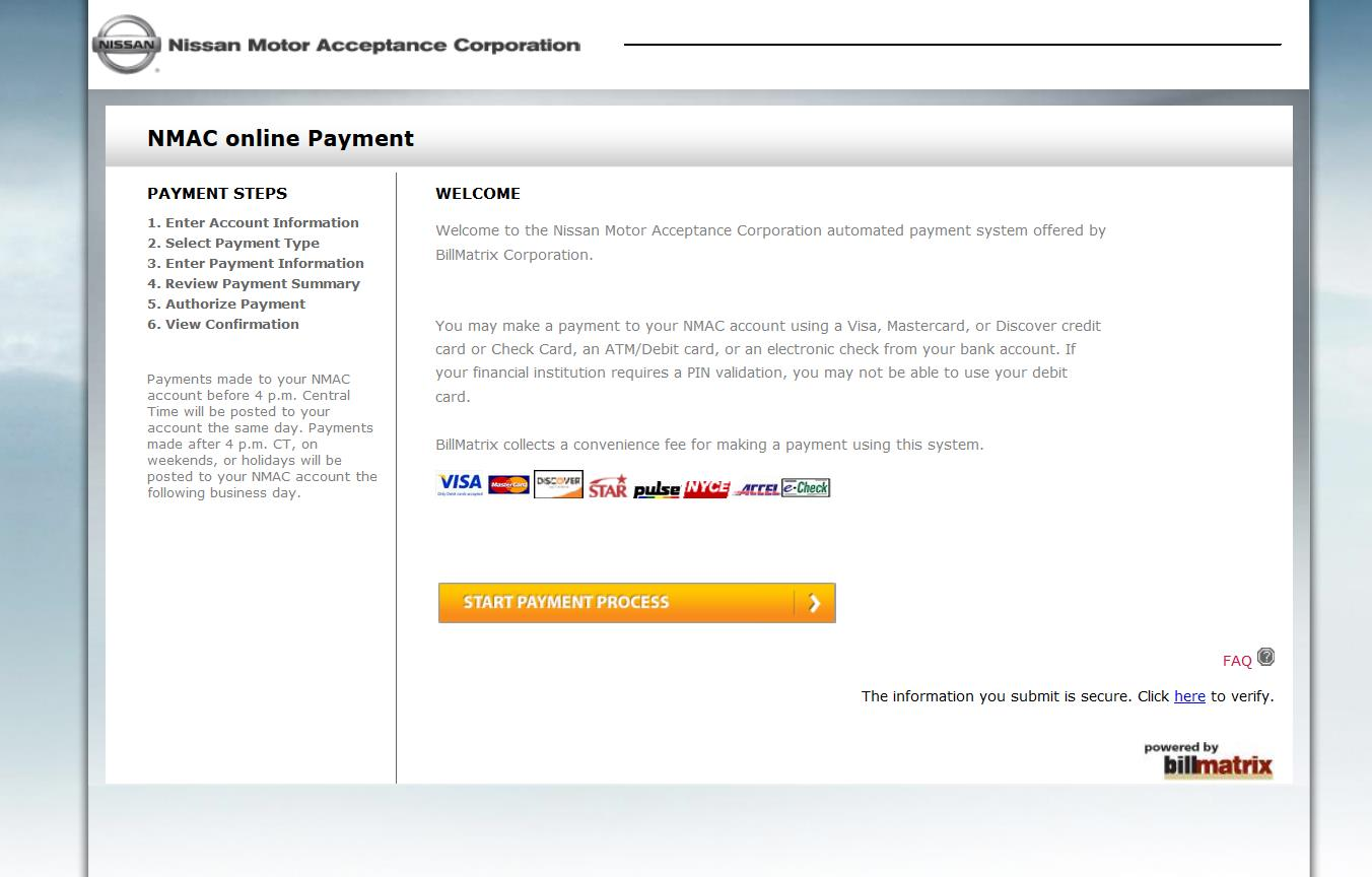 www.nissanfinance.com online payment photo - 1